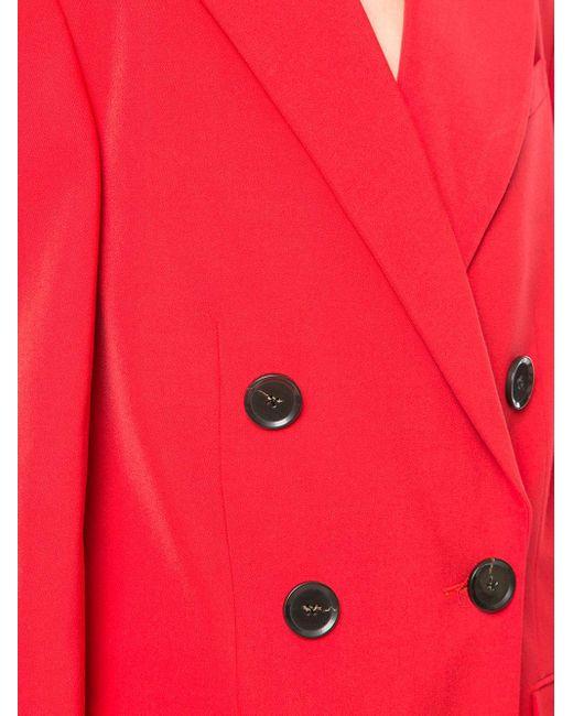 Длинное Двубортное Пальто Proenza Schouler, цвет: Red