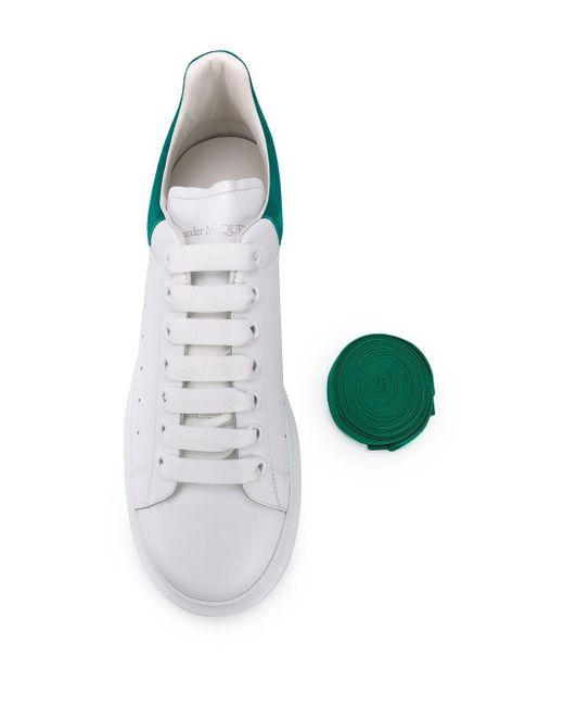 メンズ Alexander McQueen ロゴ ローカットスニーカー White
