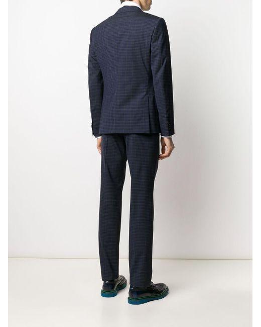 メンズ Z Zegna チェック ツーピース スーツ Black