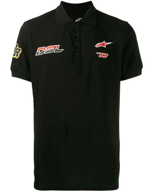 メンズ DIESEL Astars-t-night-new ポロシャツ Black