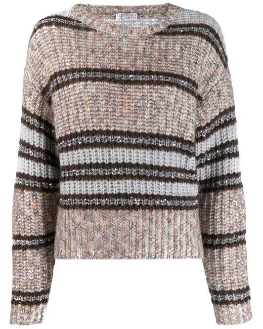 Brunello Cucinelli ストライプ セーター Multicolor
