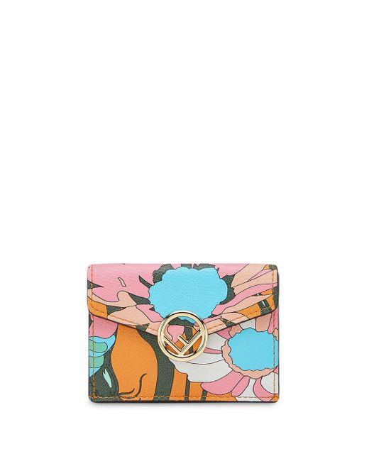 Fendi 三つ折り財布 Orange