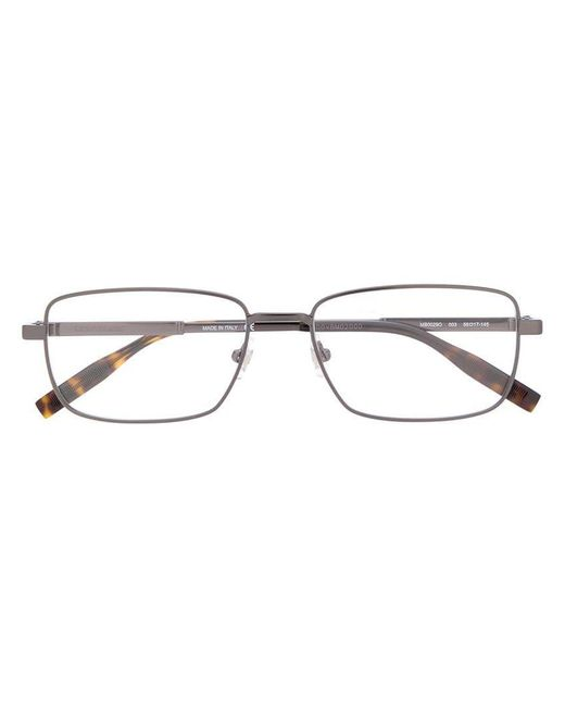 b480503b09 Montblanc - Black Rectangular Frame Glasses for Men - Lyst ...