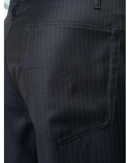 メンズ Lanvin ストライプ ストレートパンツ Blue