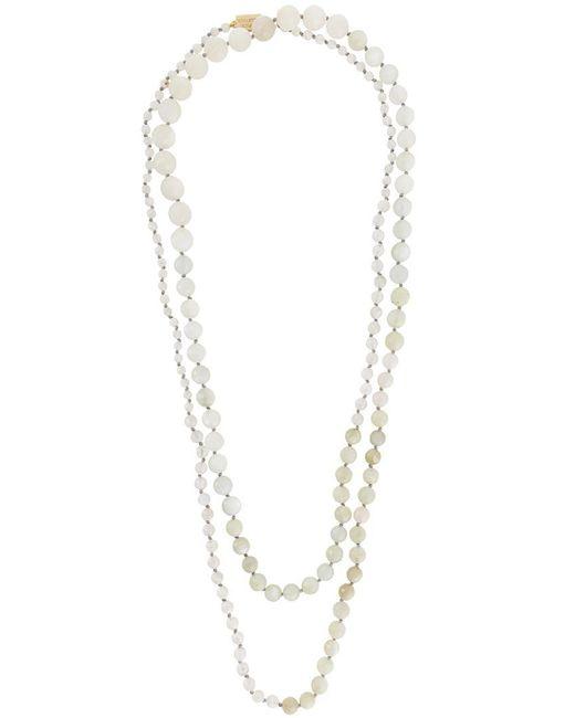 Rosantica   White 'lun' Necklace   Lyst