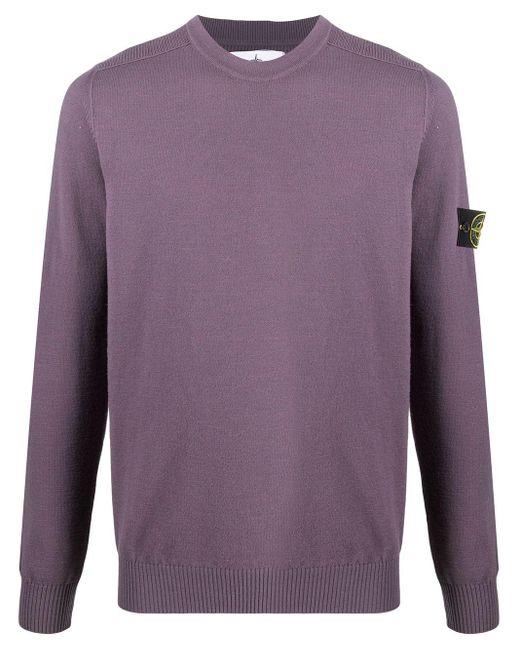 メンズ Stone Island クルーネックセーター Purple