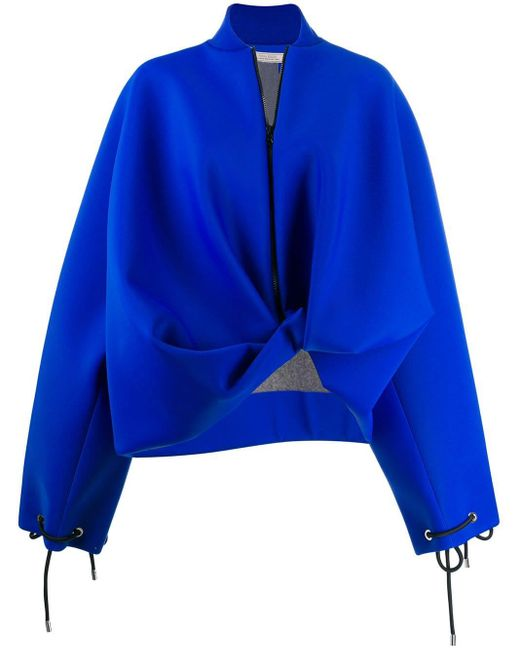 Nina Ricci アシンメトリーボンバージャケット Blue