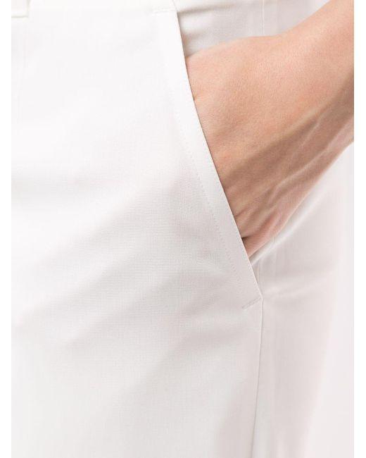 Goen.J シフォントリム テーラードパンツ White