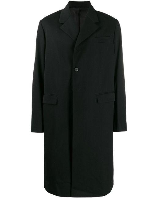Prada Black Single-breasted Midi Coat for men