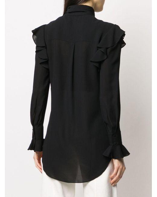 Блузка С Оборками Alexander McQueen, цвет: Black
