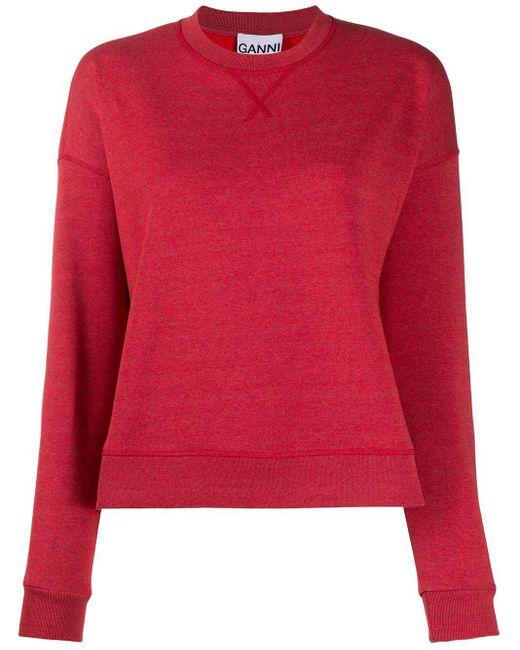Ganni Isoli スウェットシャツ Red