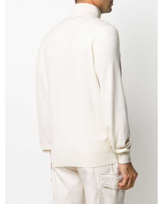 Кашемировый Джемпер С Высоким Воротником Brunello Cucinelli для него, цвет: White
