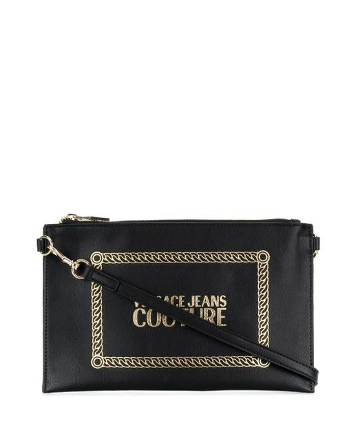 Versace Jeans ロゴ クラッチバッグ Black