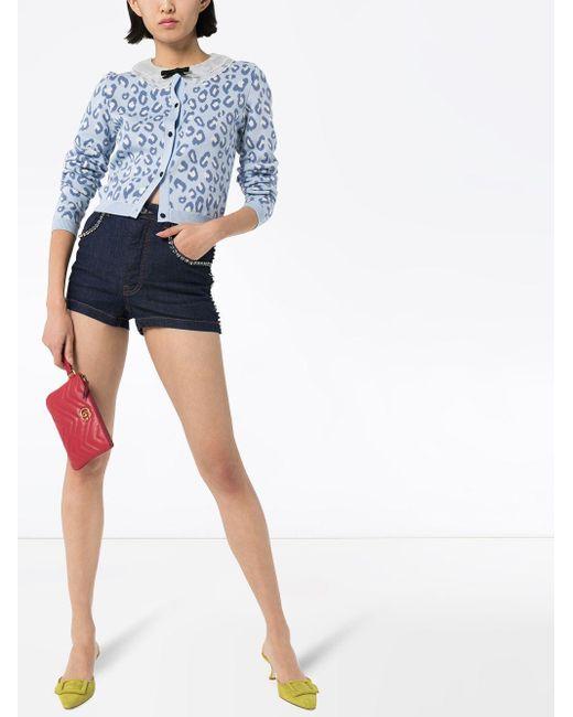 Джинсовые Шорты С Кристаллами Swarovski Dolce & Gabbana, цвет: Blue