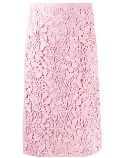 N°21 フローラル スカート Pink