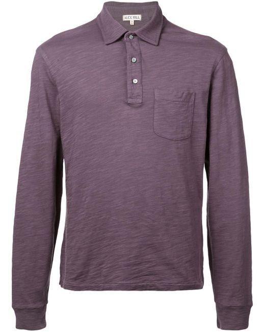 メンズ Alex Mill ロング ポロシャツ Purple
