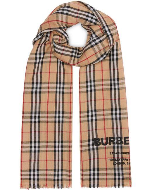 Burberry チェック カシミアスカーフ Multicolor