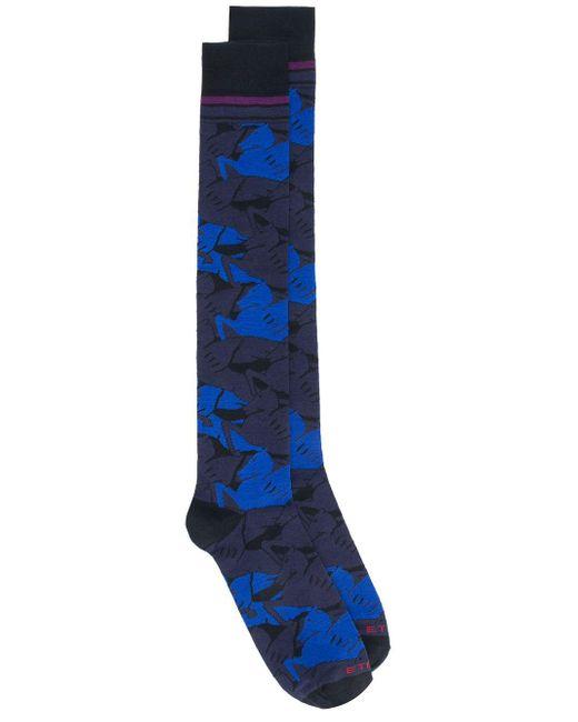 Носки Camouflage Pegaso Etro для него, цвет: Blue