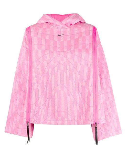 Felpa con cappuccio di Nike in Pink