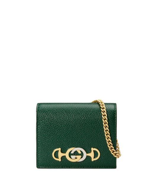 Gucci グッチ ズゥミ 二つ折り財布 Green