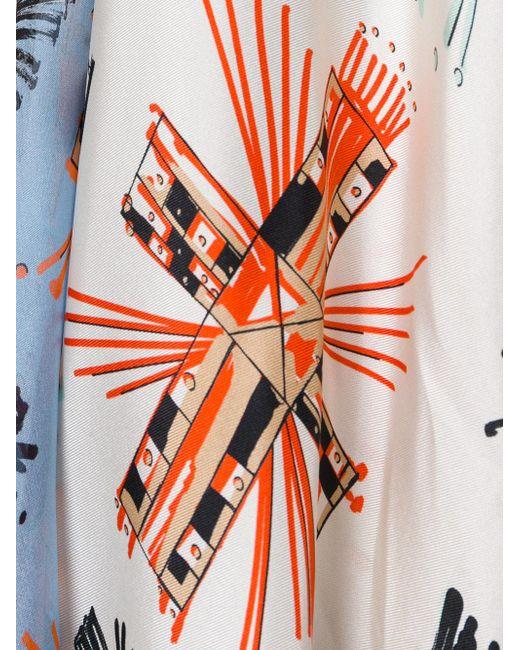 Fausto Puglisi White Flared Maxi Dress