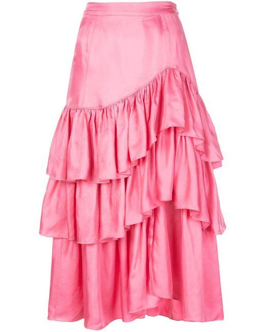 Cinq À Sept Rowan ラッフルスカート Pink