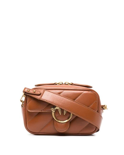 Pinko Baby Square レザーバッグ Brown