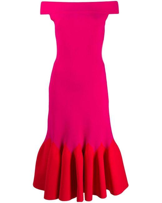 Alexander McQueen イブニングドレス Red