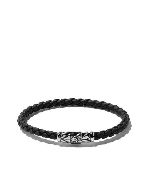 David Yurman - Black Chevron Weave Bracelet for Men - Lyst