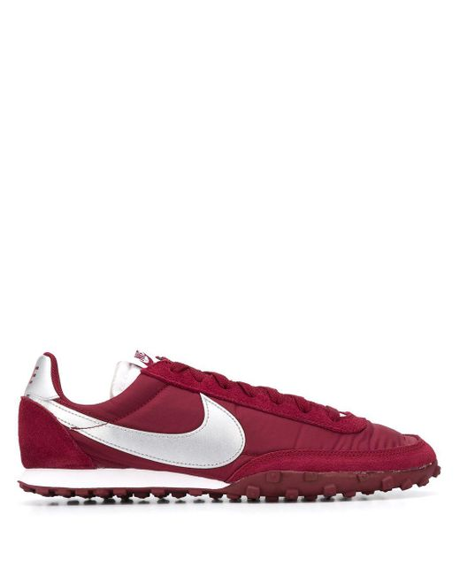 Nike Red Waffle Racer Low Top Sneakers for men