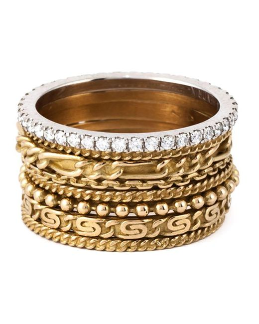 Wouters & Hendrix - Metallic Set Of 8 Stacking Rings - Lyst