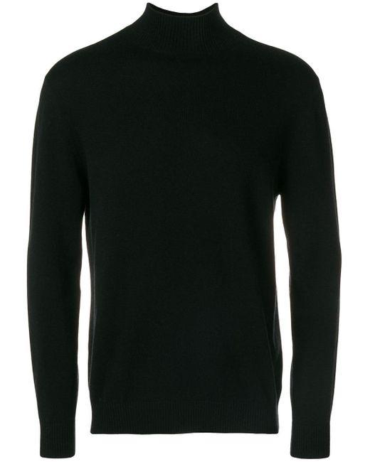 メンズ N.Peal Cashmere タートルネックセーター Black