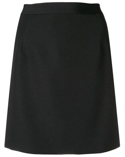 Alessandra Rich Fitted Mini Skirt Black