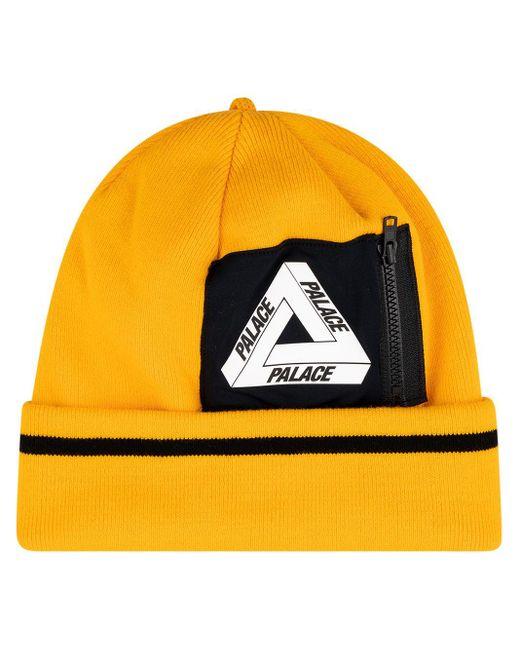 Palace ロゴ ビーニー Yellow