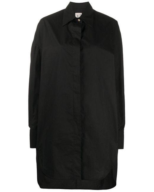 L'Autre Chose ボクシーフィット シャツドレス Black