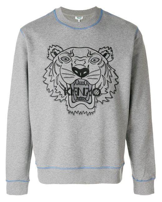 メンズ KENZO Tiger スウェットシャツ Gray