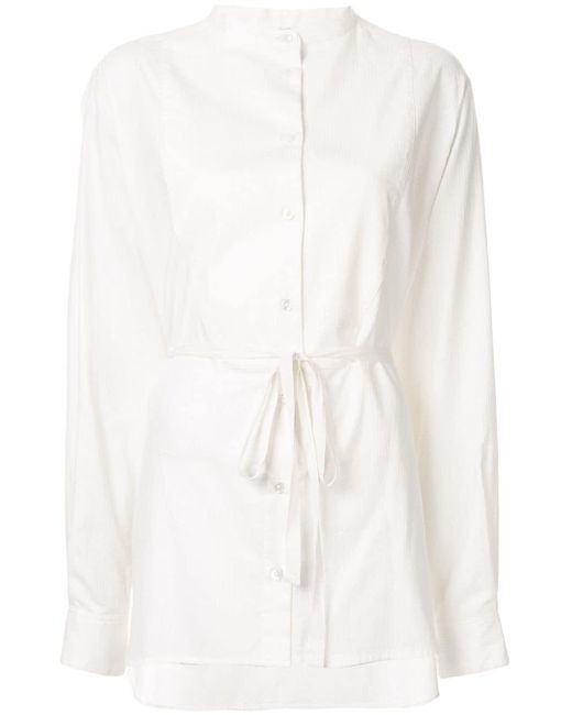 Ann Demeulemeester Rigation ロングスリーブ シャツ White