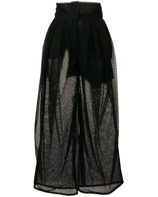 Dolce & Gabbana ハイウエスト シアー パンツ Black