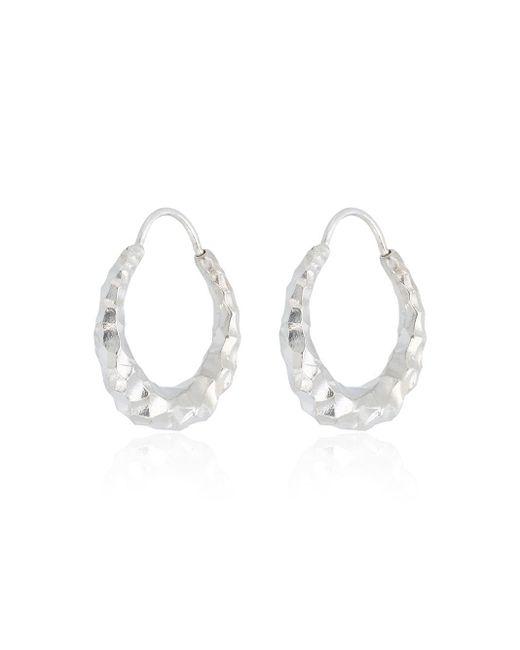 All_blues Metallic Silver Baby Snake Earrings