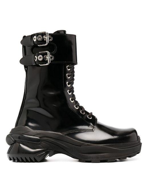 Ботинки На Шнуровке Maison Margiela для него, цвет: Black