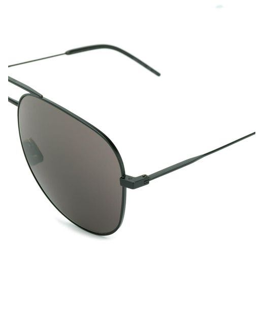 Saint Laurent Men's Black Aviator Sunglasses