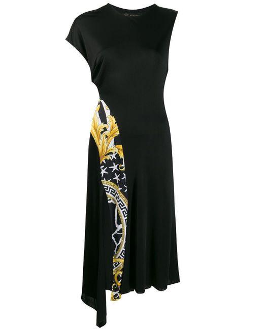 Versace バロックプリント ドレス Black