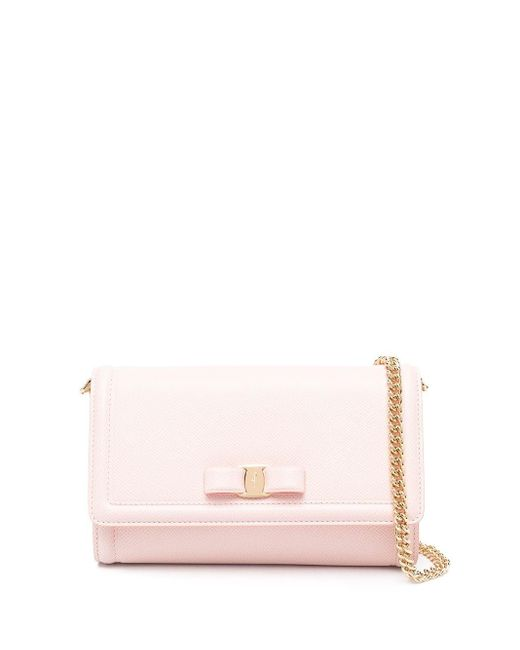 Ferragamo Pink Vara Bow Mini Bag