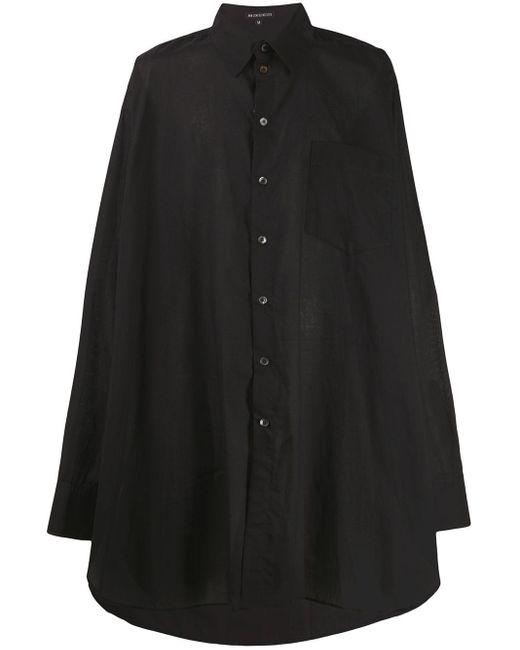 メンズ Ann Demeulemeester オーバーサイズ シャツ Black