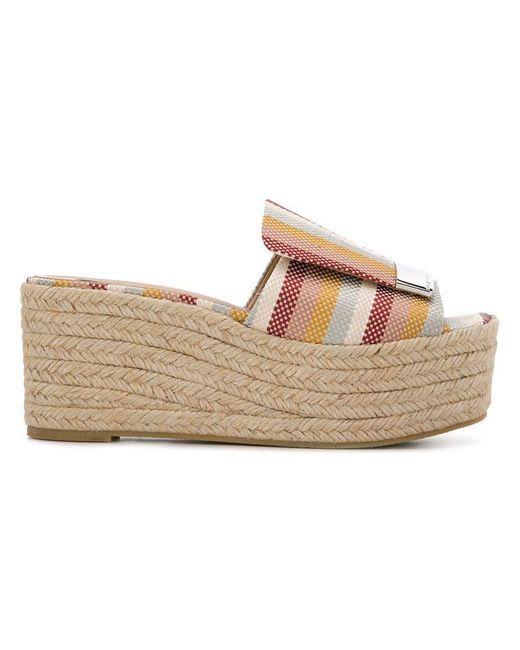 14d8803707932 Sergio Rossi - Multicolor Sr1 Espadrillas Sandals - Lyst ...