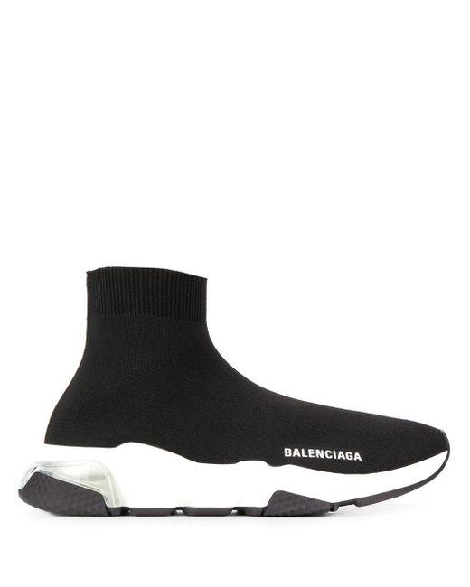 Zapatillas Speed LT con suela transparente Balenciaga de color Black