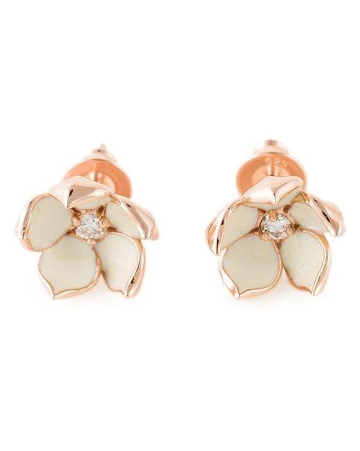 Shaun Leane - Pink 'cherry Blossom' Diamond Earrings - Lyst