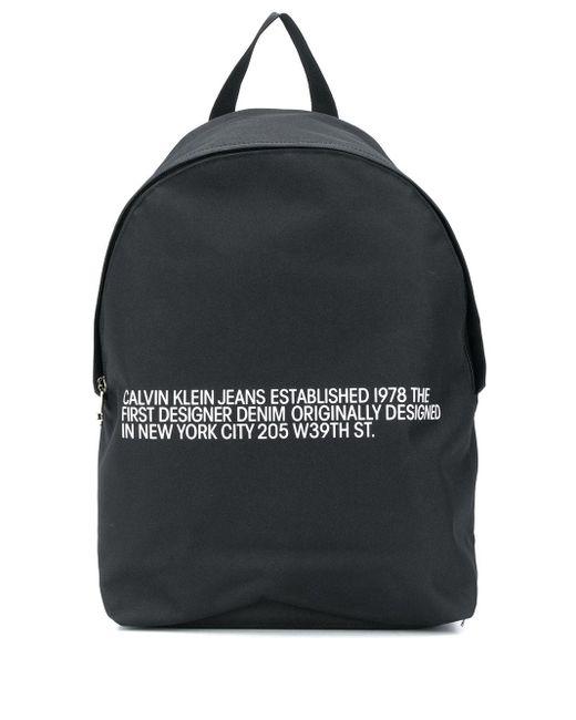 Calvin Klein 'Round' Rucksack mit Logo-Print in Black für Herren