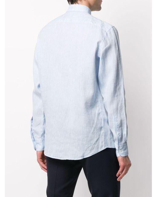 Рубашка Стандартного Кроя Ermenegildo Zegna для него, цвет: Blue