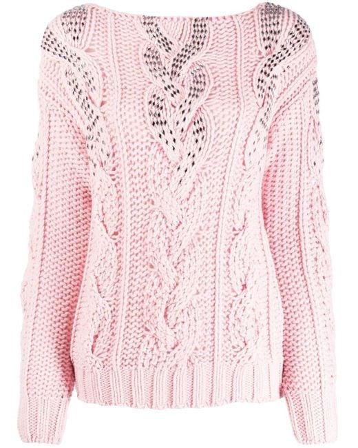 Ermanno Scervino グラデーション セーター Pink